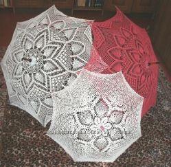 Зонт ручной работы.