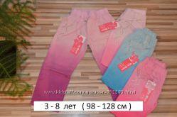 Коттоновые брюки для девочек 3-8 лет