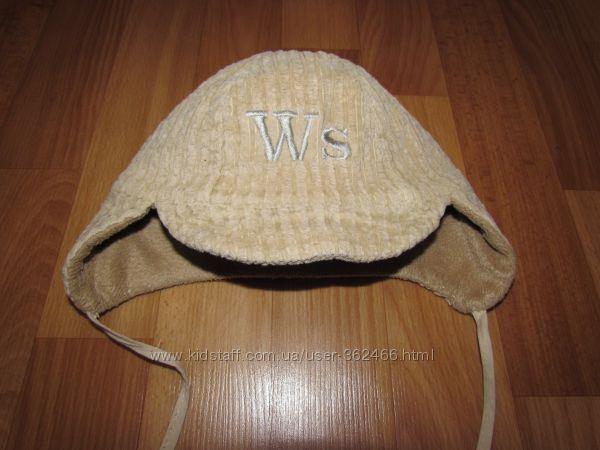 Вельветовая шапочка на флисе