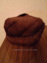 Норковая шляпка-берет