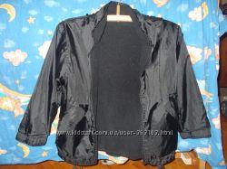 Двусторонняя куртка-ветровка утепленная флисом мальчику на рост 130-140 см