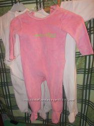 Пижамки человечки-слипы  на 12-30 мес 3 по цене 1-го