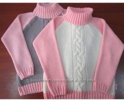Теплые свитера и кофты полушерсть на девочек и мальчиков сезонные скидки