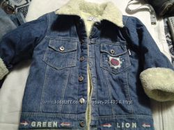 джинсовый утепленный костюм на мальчика, демисезонный