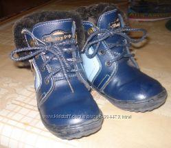 Зимние кожанные ботинки, 25 р-р.
