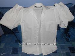 мужская белая рубашка 38 р-р