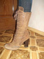новые демисезонные замшевые ботинки Empodium