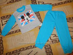 Новые пижамы Микки Мауси Тачки на 1-3 года в наличии