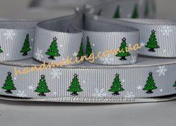 Новогодние репсовые ленты