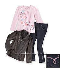 Calvin Klein Комплект на девочку 6 лет тройка джегинсы реглан