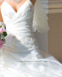 Продам свадебное платье, цвет  айвори.