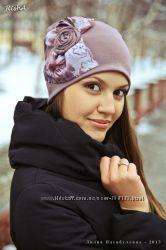 Красивые шапки из трикотажа Зима-Осень