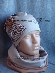 Модные шапочки для девочек Осень и Зима