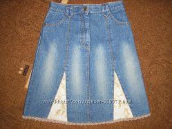 Юбка  джинсовая   р. 140см