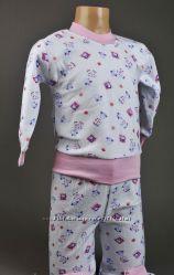 Теплая пижама  на девочку 1-2 годика. Начес и байка
