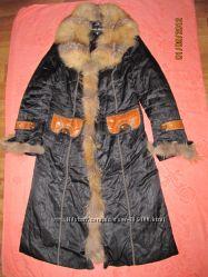 Пальто с натуральным мехом, р. 46 Днепропетровск