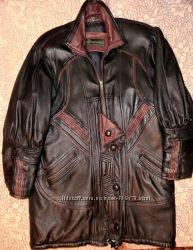 Куртка женская кожаная на синтепоне