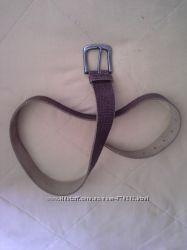 новый кожаный ремень Монтон 81 см дл. 4 шир.