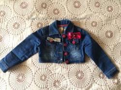 Джинсовая курточка на модную девчонку 4-5 лет, 110 см