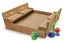 Песочница-3 детская деревянная