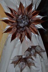 Цветы для украшения штор Ручная работа