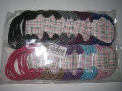 яркие разноцветные резинки для волос без украшений