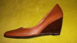модные удобные и красивые коричневые туфли NEXT натуральная кожа р. 36-37