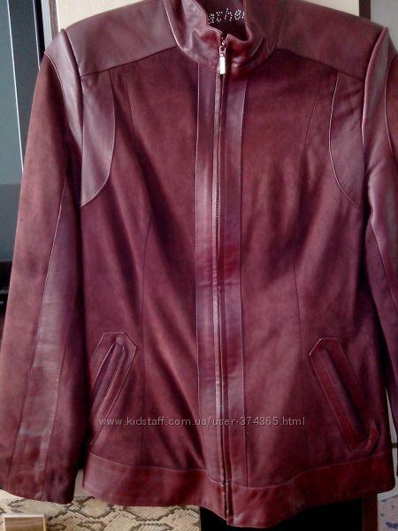 Куртка - пиджак 46, 46-48 натур замш и кожа