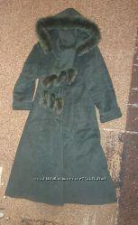 Длинное шерстяное пальто в идеальном состоянии. Зима. Размер 48.