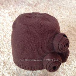 Мега Красивенная шапочка для девочки от Gap и Benetton на 6-9м