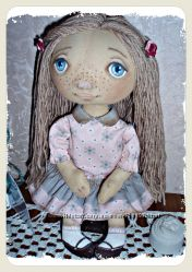 Текстильная кукла .