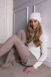 Шерстяные колготки тм legs с ажурным рисунком