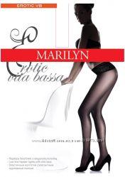Колготки Marilyn Erotic VB - силиконовая кружевная резинка
