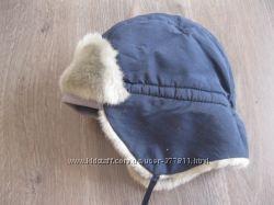 зимняя теплая фирминная шапочка для мальчика 1-3 года