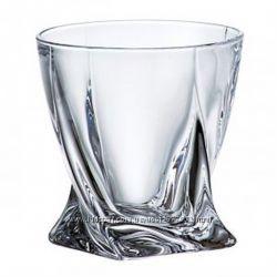 Набор стаканов для виски 340мл-6шт Bohemia Quadro