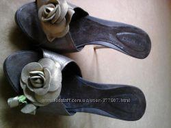 Шлёпанцы - кожаные, итальянские