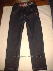 Модные джинсы- лосины на рост 110 см