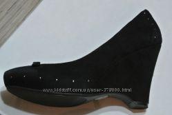 Стильные эффектные замшевые туфли из Америки, стелька 25, 2