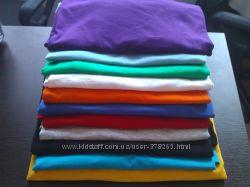 Мужские однотонные футболки Fruit of the Loom 100 хлопок из Германии