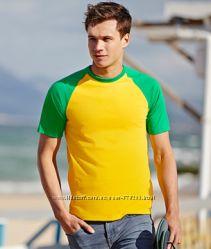 Мужские футболки с цветным рукавом и горловиной 100 хлопок