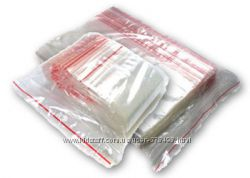 Пакеты струна с замком Zip-Lock, от 4х6 см до 35х45 см