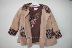 Замечательный комплект на межсезонье пальто и футболка 86 см
