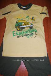 шорты и футболка на мальчика - хлопок, комплекты