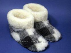 Обувь из овечьей шерсти чуни, тапочки