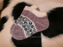 Женские носки укороченные теплые