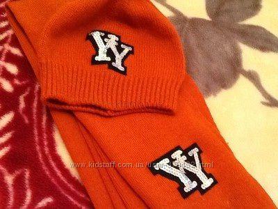 красивый комплект для девочки до 6 лет  шапка и шарфик