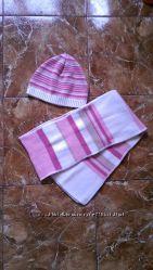 Комплект шапка  шарфик набор