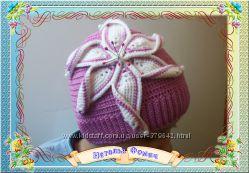 Вязаные шапки, женские шапки.