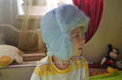 шапка-ушанка на 3года