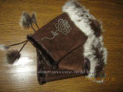 Новые перчатки-митенки с мехом